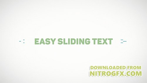 Easy Sliding Text - Project for After Effects (Videohive)