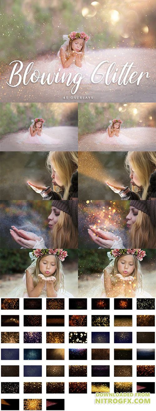 CreativeMarket - 45 Blowing Glitter Overlays 2001673
