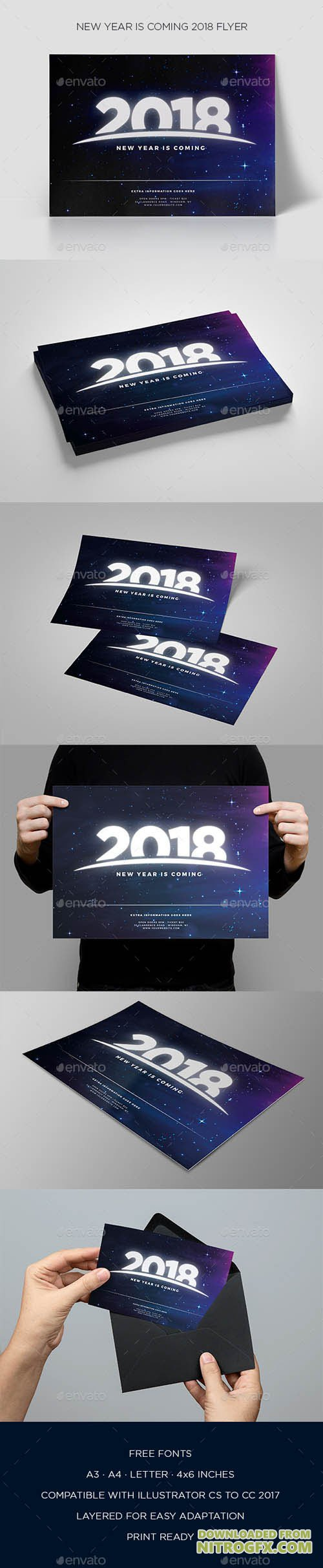 New Year Coming 2018 Flyer 20924533