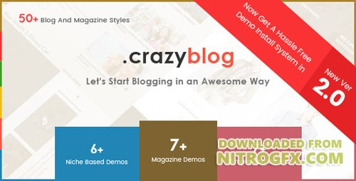 ThemeForest - CrazyBlog v2.0 - Start A Blog or Magazine for Adsense or Affiliate Business - 13233324