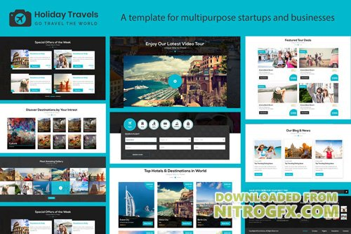 Holiday Travels - Creative Travel & Tour Template