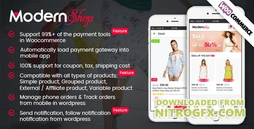 CodeCanyon - Full Mobile Woocommerce App for Woocommerce Store - ModernShop (Update: 16 August 17) - 20417299