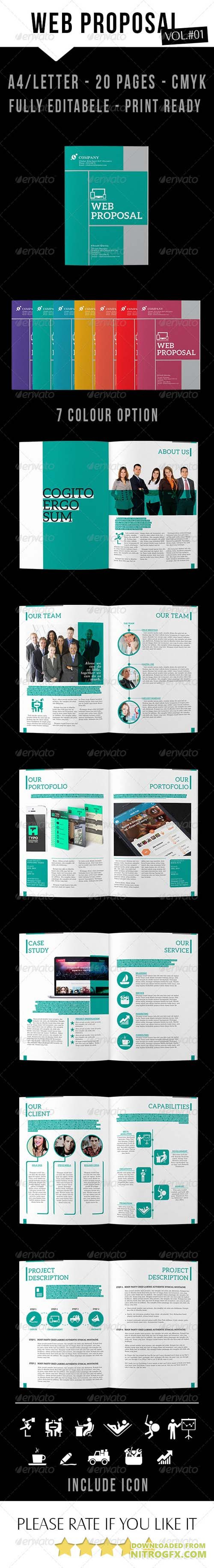 Clean Web Proposal InDesign 8028633