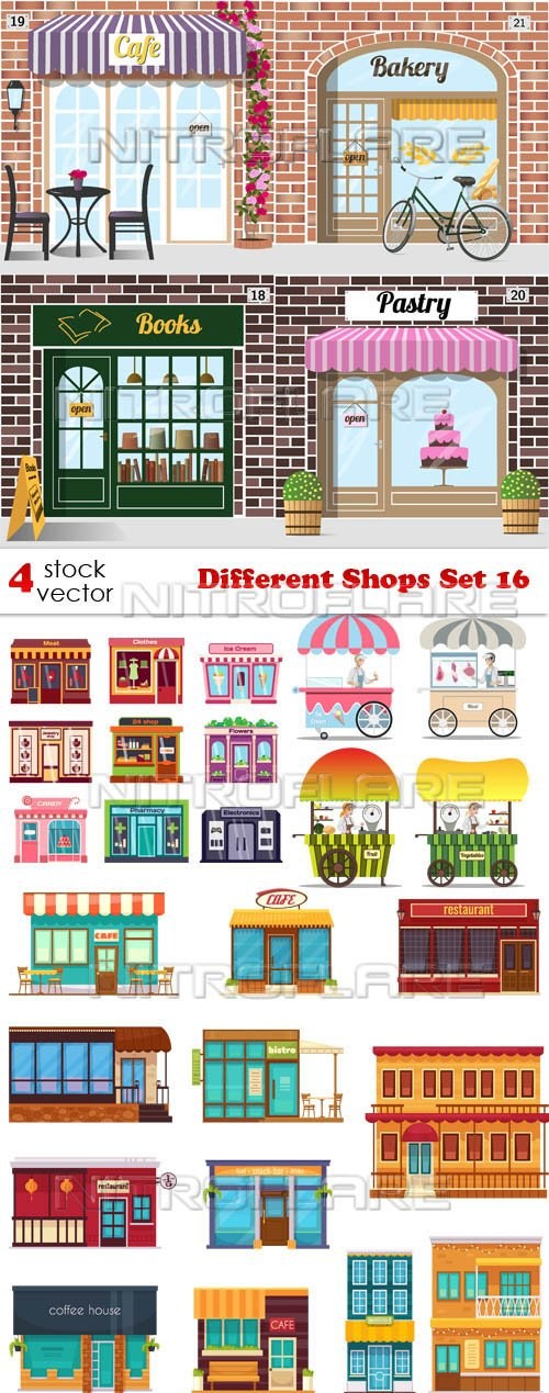 Vectors - Different Shops Set 16