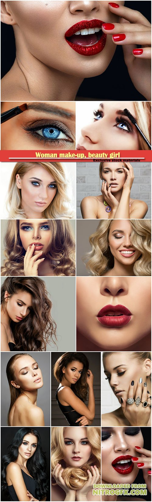 Woman make-up, beauty girl with perfect skin