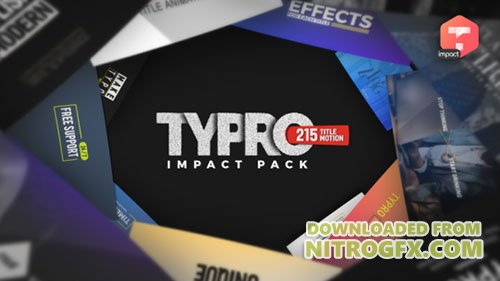 Typro - ImpactPack | 215 Title Animations - Project for After Effects (Videohive)