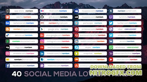 Social Media Lower Thirds 20334014 - Project for After Effects (Videohive)