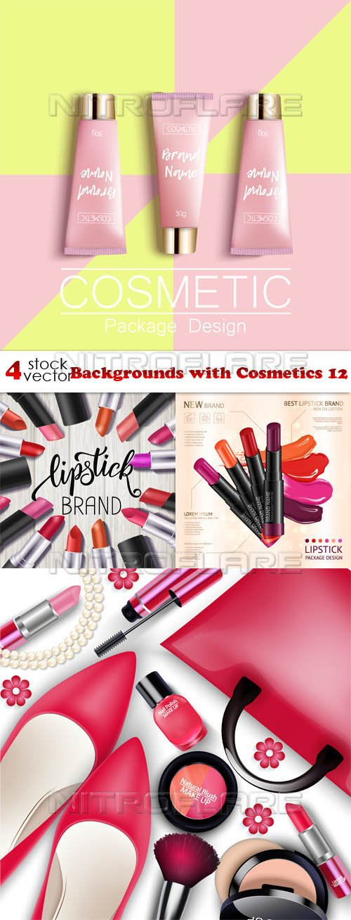 Vectors - Backgrounds with Cosmetics 12