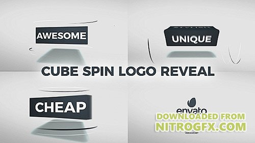 Cube Spin Logo Reveal 20925658 - Project for After Effects (Videohive)