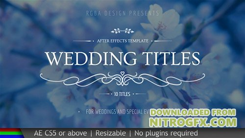 Wedding Titles 20439562 - Project for After Effects (Videohive)