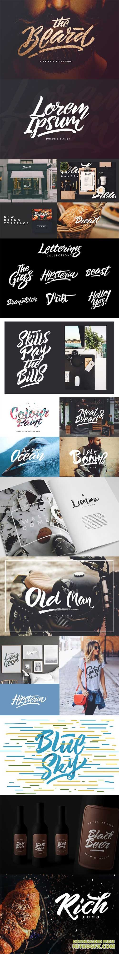 The Beard - Branded Typeface +Extras 869235