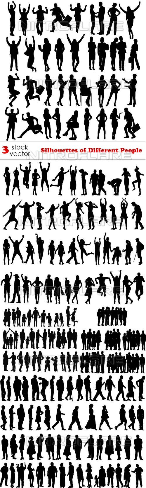 Vectors - Silhouettes of Different People