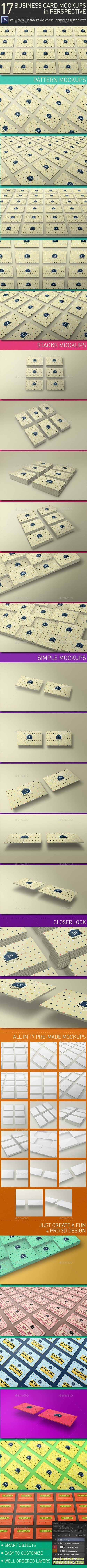 Business Card Mockups in Perspective 11862546