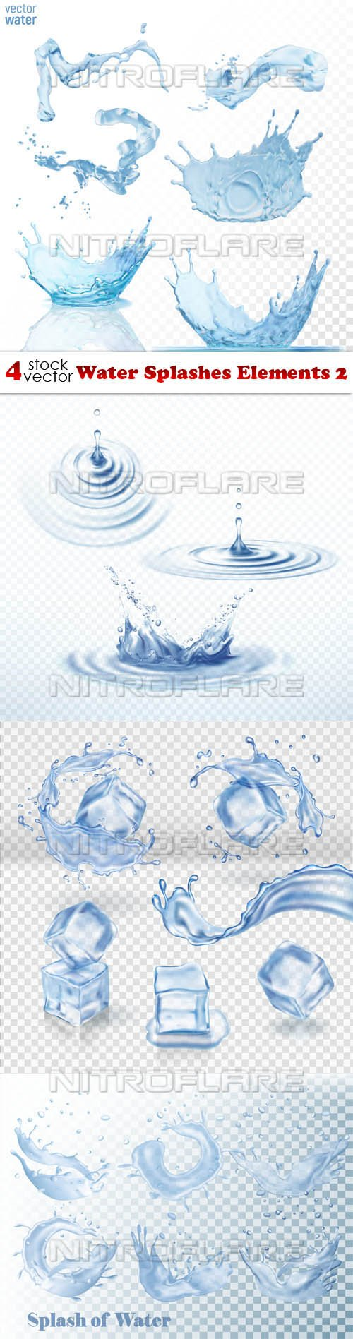Vectors - Water Splashes Elements 2