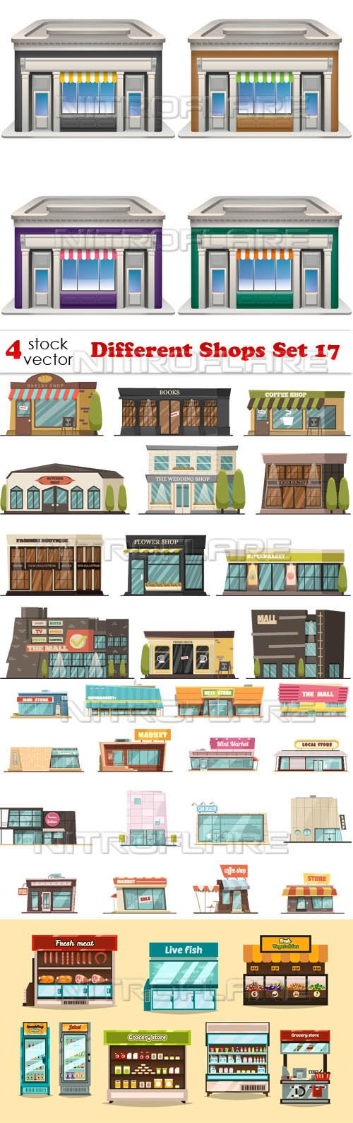 Vectors - Different Shops Set 17