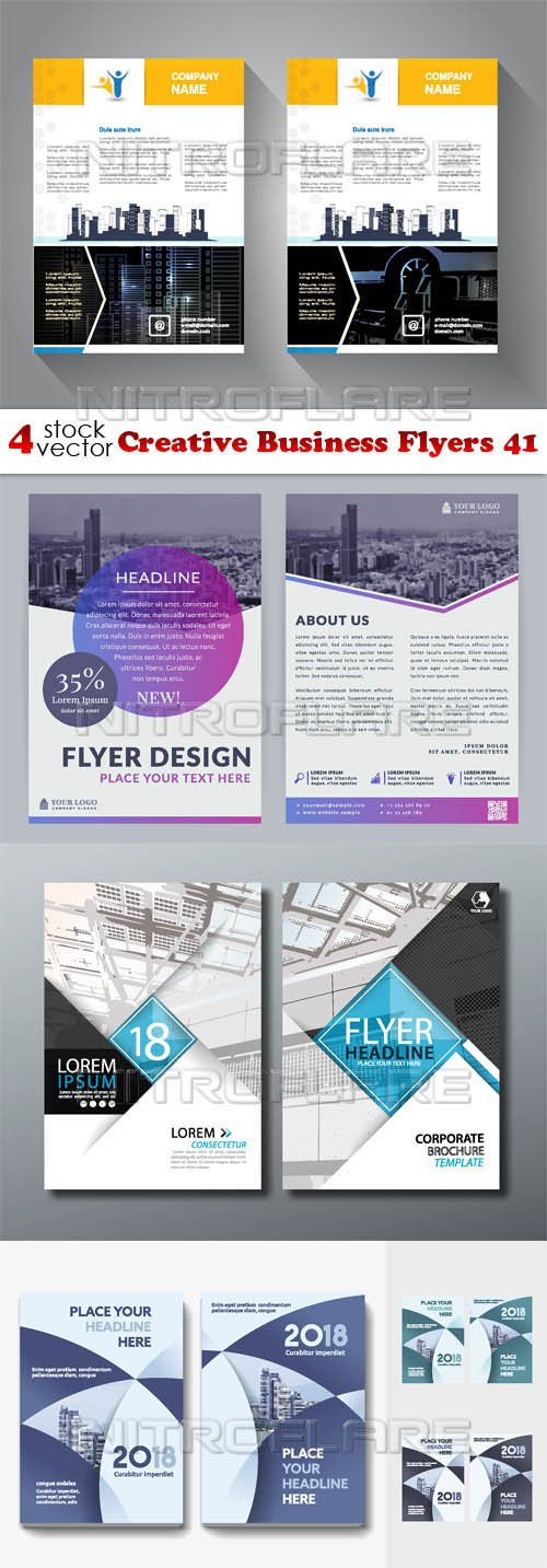Vectors - Creative Business Flyers 41