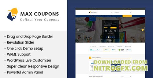 ThemeForest - Max Coupons v1.0.0 - Couponry & Deals WordPress Theme - 20303982