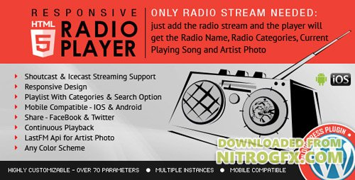 CodeCanyon - Radio Player Shoutcast & Icecast WordPress Plugin v1.8.3 - 9013963