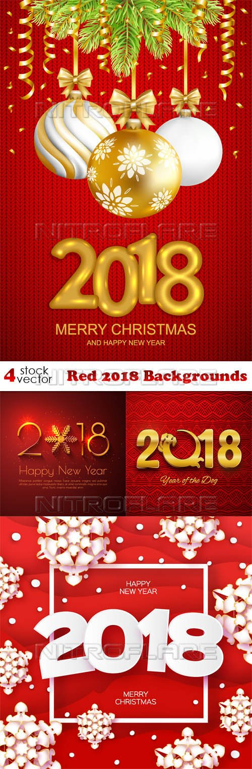 Vectors - Red 2018 Backgrounds