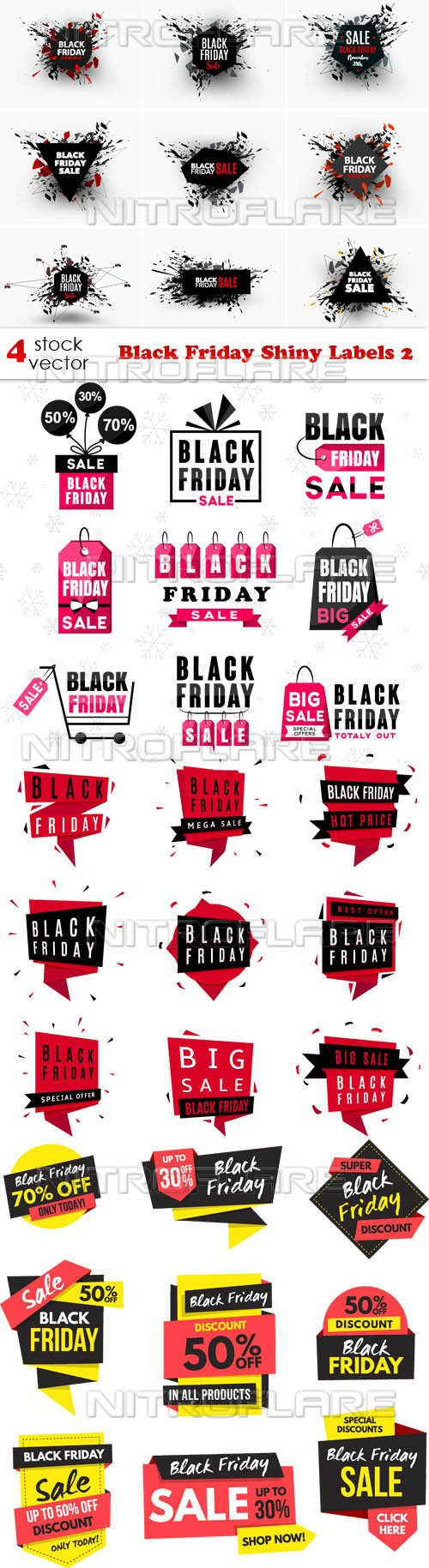 Vectors - Black Friday Shiny Labels 2