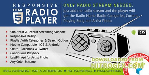 CodeCanyon - Visual Composer Addon - HTML5 Radio Player v1.4.3 - 12403103