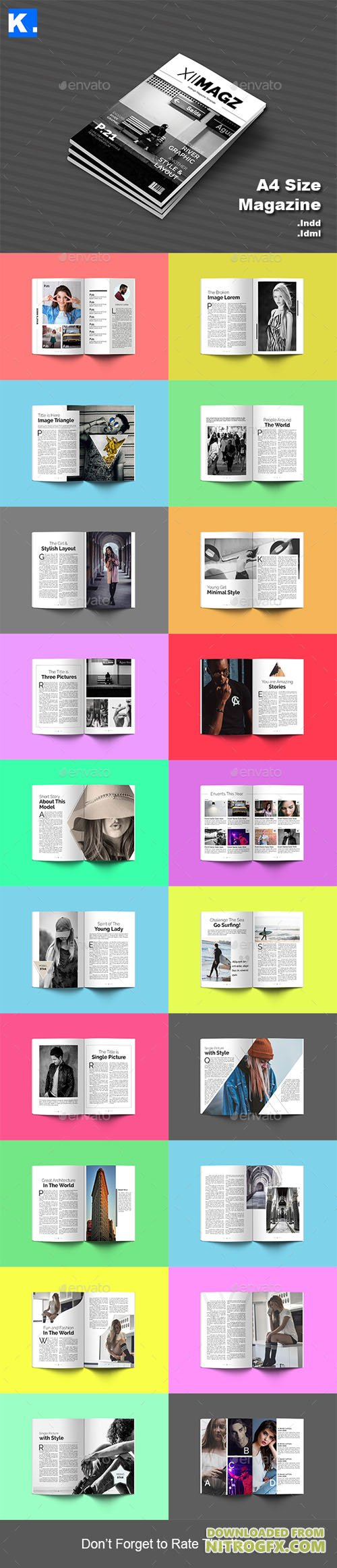 Indesign Magazine Template 4 20944565