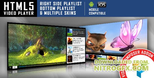 CodeCanyon - Visual Composer Addon - HTML5 Video Player v1.2.4 - 12713658