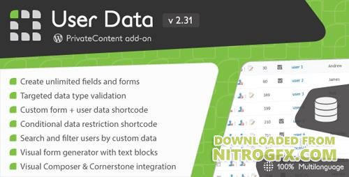 CodeCanyon - PrivateContent - User Data add-on v2.31 - 2399731