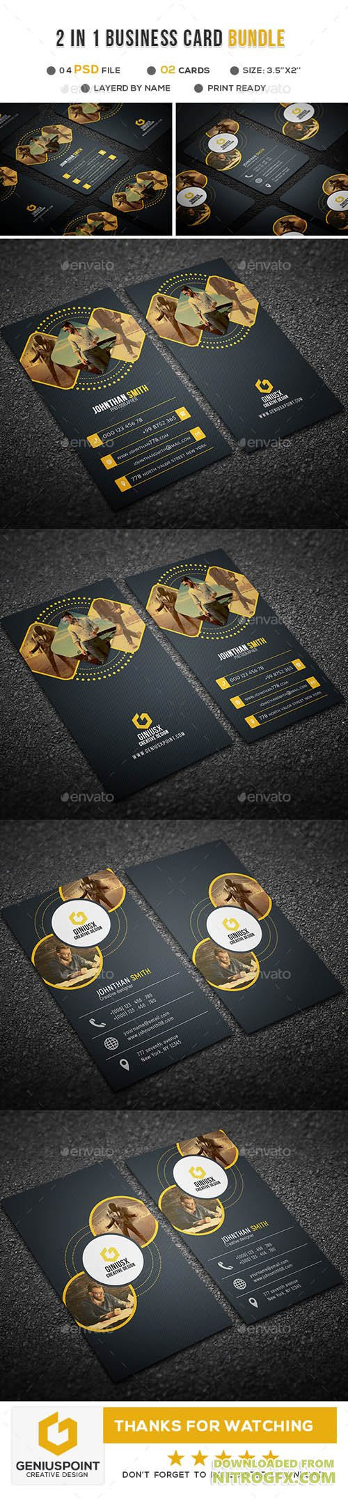 2 in 1 Business Card Bundle 20952606