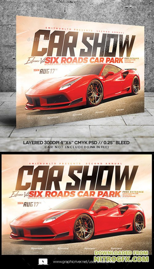 Car Show Extreme V2 Flyer - Horizontal 20952900