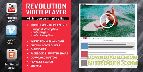 CodeCanyon - Revolution Video Player With Bottom Playlist v1.3 - YouTube/Vimeo/Self-Hosted Support - 18093161