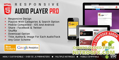 CodeCanyon - Visual Composer Addon - HTML5 Audio Player PRO v1.7.1 - 12000347