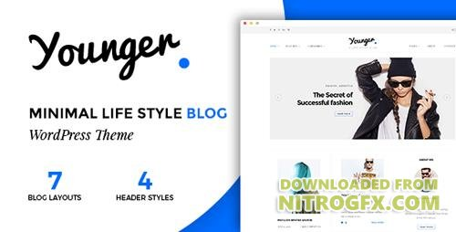ThemeForest - Younger Blogger v1.0 - Personal Blog Theme - 18150013