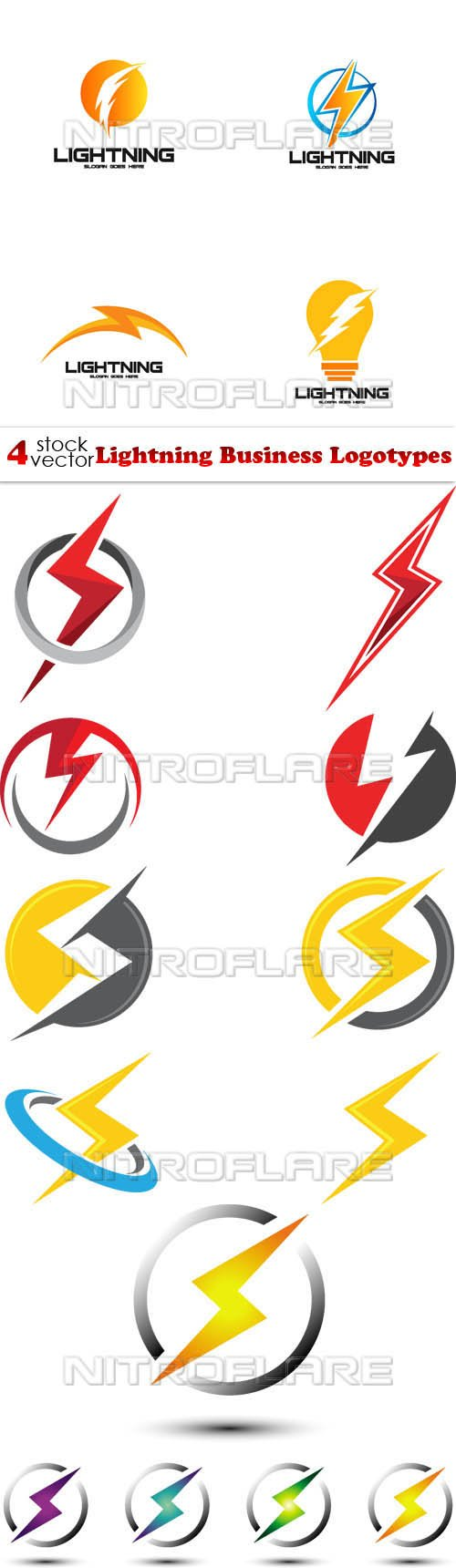 Vectors - Lightning Business Logotypes