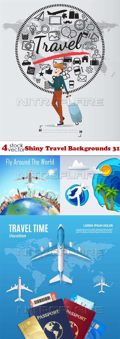 Vectors - Shiny Travel Backgrounds 31
