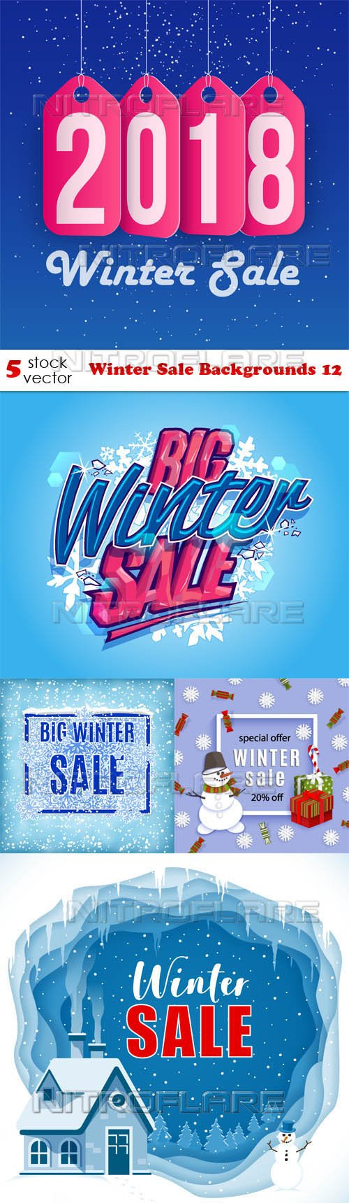 Vectors - Winter Sale Backgrounds 12