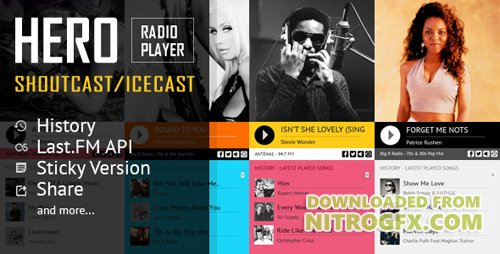 CodeCanyon - Hero v1.4.3 - Shoutcast and Icecast Radio Player With History - 19325462