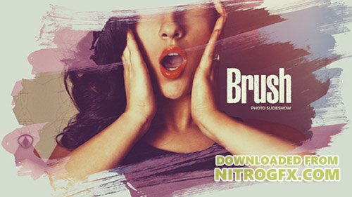 Beautiful Brush Photo Slideshow - Project for After Effects (Videohive)