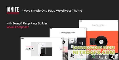 ThemeForest - IGNITE v1.0.2 - Simple One Page Creative WordPress Theme - 12795782