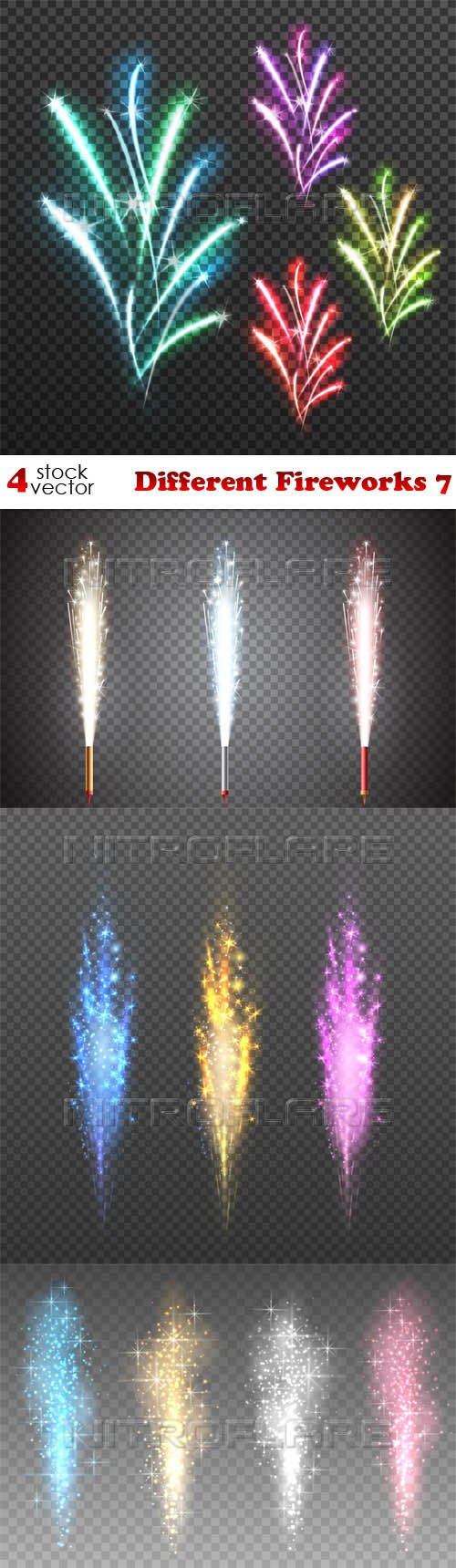 Vectors - Different Fireworks 7