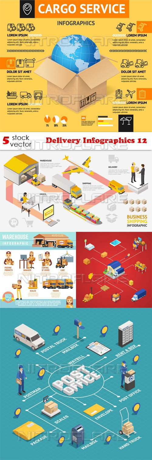 Vectors - Delivery Infographics 12