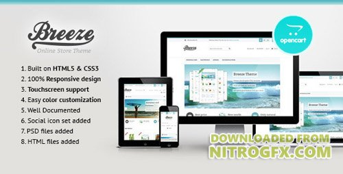 ThemeForest - Breeze v1.0 - Responsive OpenCart Theme - 4490313