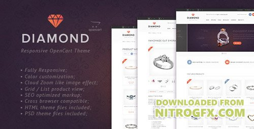 ThemeForest - Diamond v1.0 - Responsive OpenCart Theme - 5140073