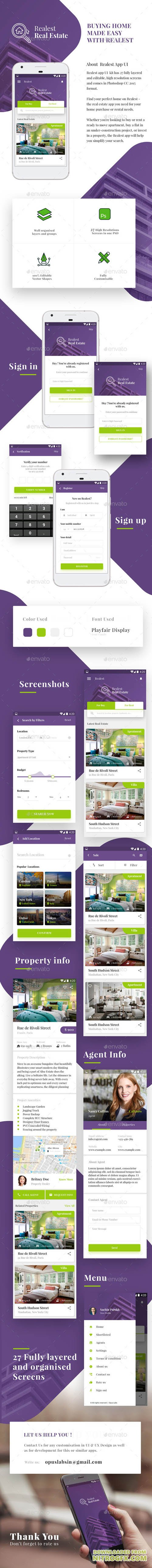 Real Estate App Android & iOS UI | Realest 20910009