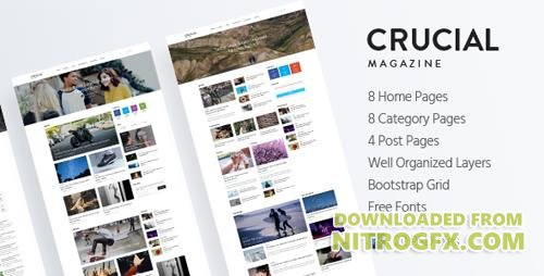 ThemeForest - Crucial v1.0 - Magazine Bootstrap 3 Responsive HTML Template - 19147708