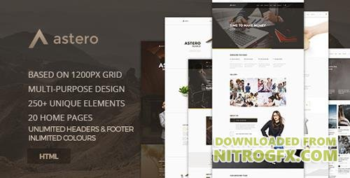 ThemeForest - Astero v1.0 - Creative MultiPurpose Component Based HTML5 Template - 17034981