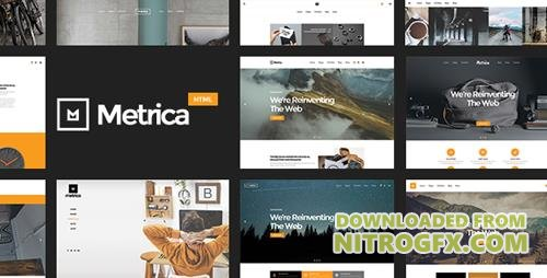 ThemeForest - Metrica v1.0 - Highly Flexible Component Based HTML5 Template - 17023641