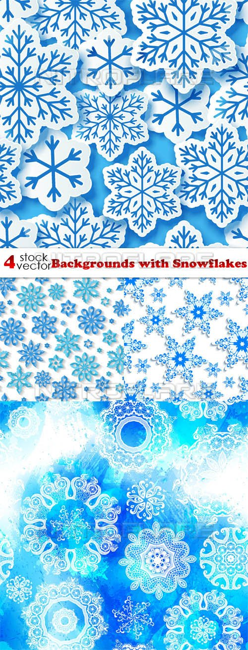 Vectors - Backgrounds with Snowflakes