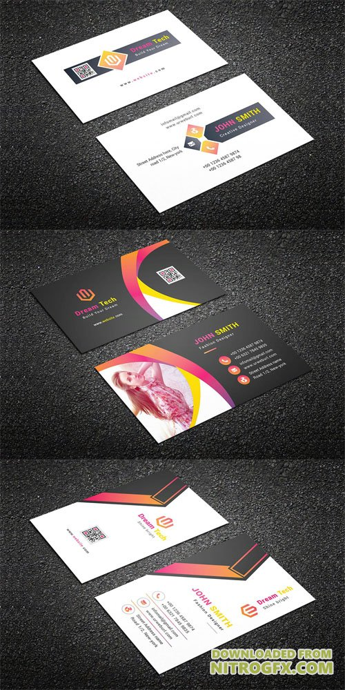3 Business Cards Set