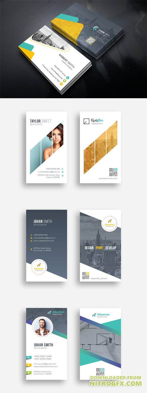 4 Vector Business Cards
